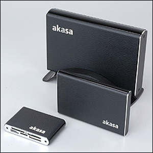 Akasa Elite Series HDD Enclosures and Card Reader